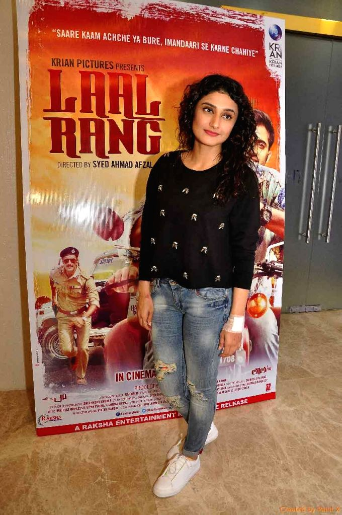Actress Ragini Khanna during the screening of film Laal Rang hosted by Akshay Oberoi, in Mumbai on April 20, 2016. - Ragini Khanna