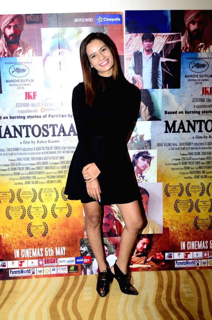 Actress Raina Bassnet during the trailer launch of film Mantostaan in Mumbai on April 15, 2017. - Raina Bassnet
