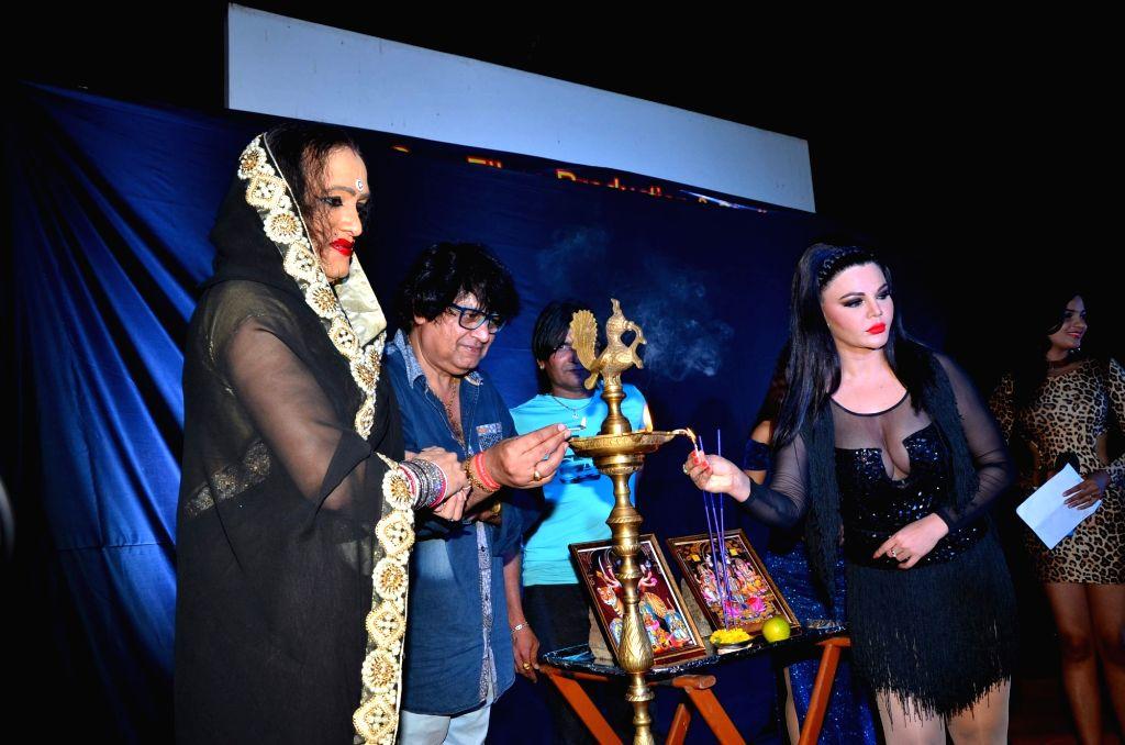Actress Rakhi Sawant and Transgender activist Laxmi Narayan Tripathi during the muhurat of hindi film Upeksha in Mumbai on March 14, 2016. - Rakhi Sawant and Laxmi Narayan Tripathi