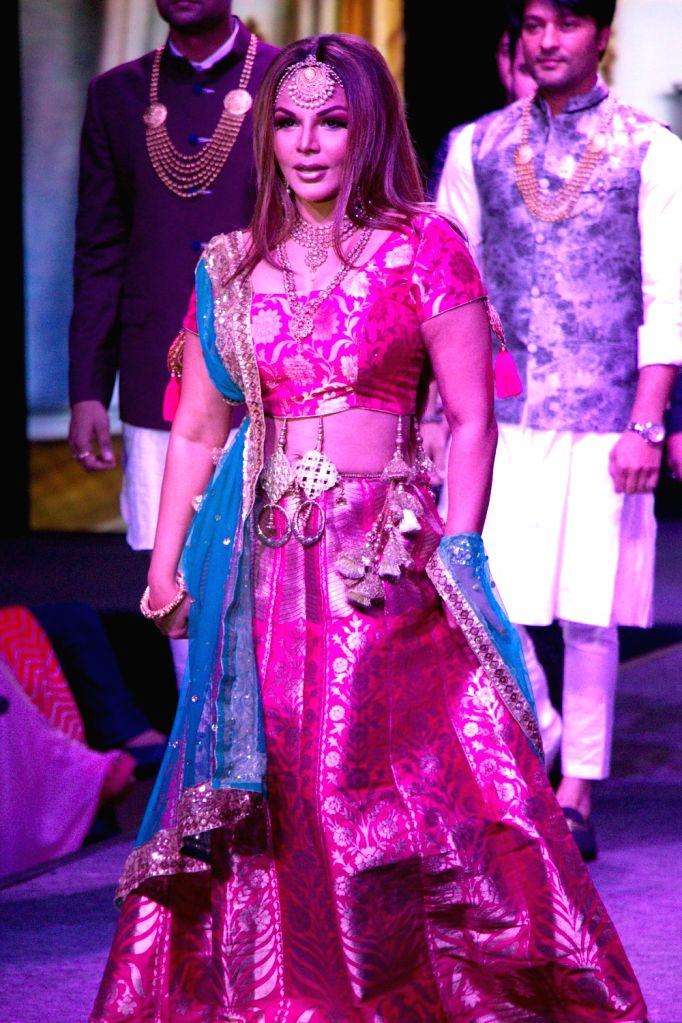 Actress Rakhi Sawant during the launch of a design studio, in Bengaluru on May 26, 2018. - Rakhi Sawant
