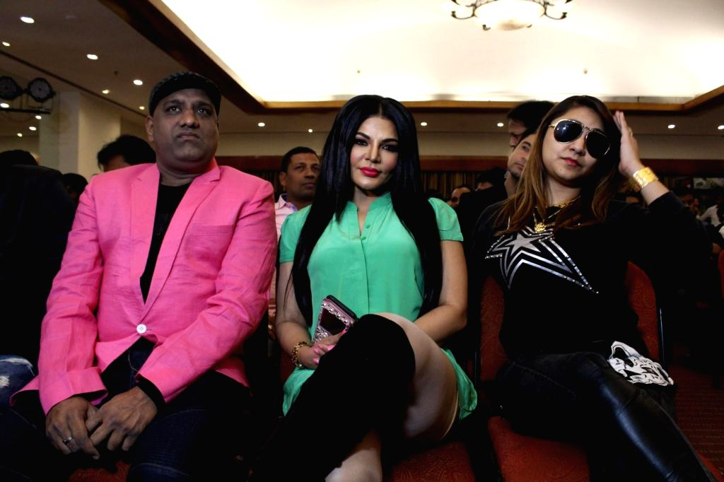 "Actress Rakhi Sawant during the music launch of ""Kutumb"" in Mumbai on March 9, 2017. - Rakhi Sawant"