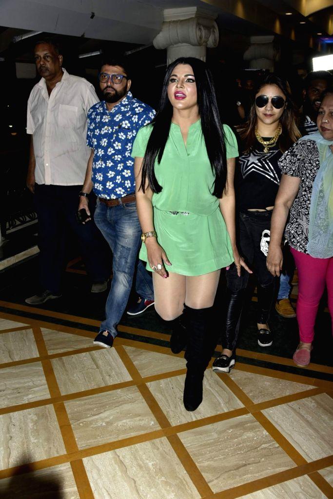 """Actress Rakhi Sawant during the music launch of film """"Kutumb"""" in Mumbai on March 9, 2017. - Rakhi Sawant"""