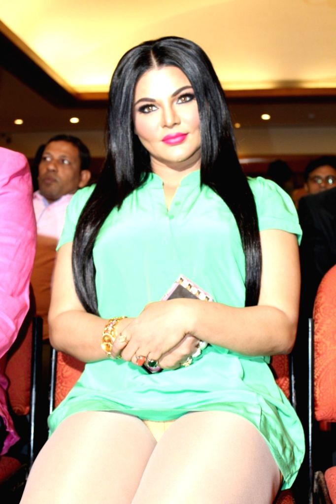 Actress Rakhi Sawant with Celebs during the music launch of Hindi features film Kutumb Byu Rakhi Sawant in Mumbai on March 9, 2017. - Rakhi Sawant