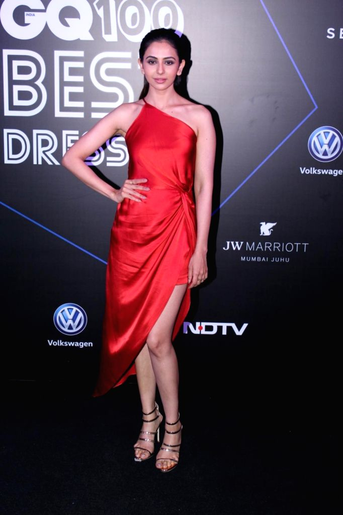 "Actress Rakul Preet Singh at ""GQ 100 Best Dressed Awards 2019"", in Mumbai, on June 1, 2019. - Rakul Preet Singh"