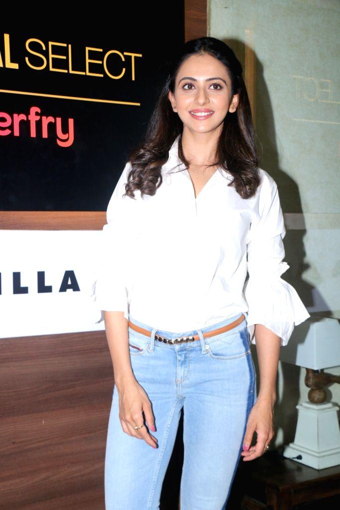 Actress Rakul Preet Singh at the launch of Carnival cinema Lounge in Mumbai on Feb 16, 2018. - Rakul Preet Singh