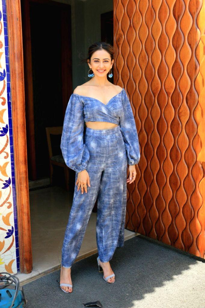 "Actress Rakul Preet Singh during a press conference regarding ""De De Pyaar De"" in Mumbai on May 11, 2019. - Rakul Preet Singh"
