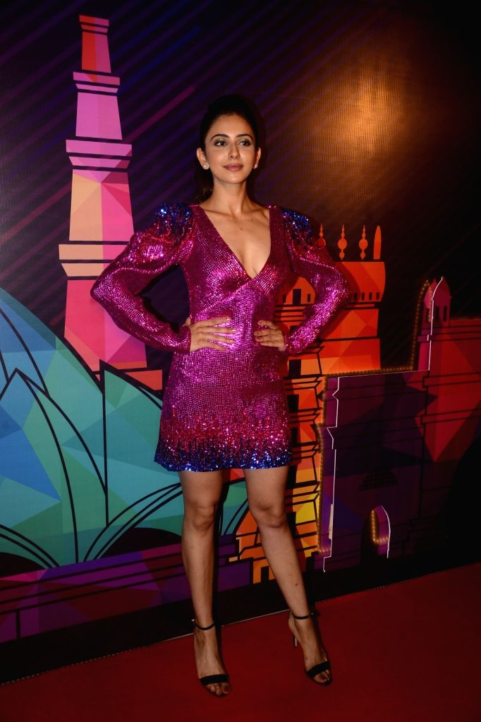 Actress Rakul Preet Singh during a programme organised to unveil the winners of fbb Colors Femina Miss India 2018 in Mumbai on June 10, 2018. - Rakul Preet Singh