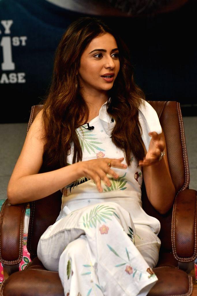 Actress Rakul Preet Singh during a programme in Hyderabad, on May 26, 2019. - Rakul Preet Singh