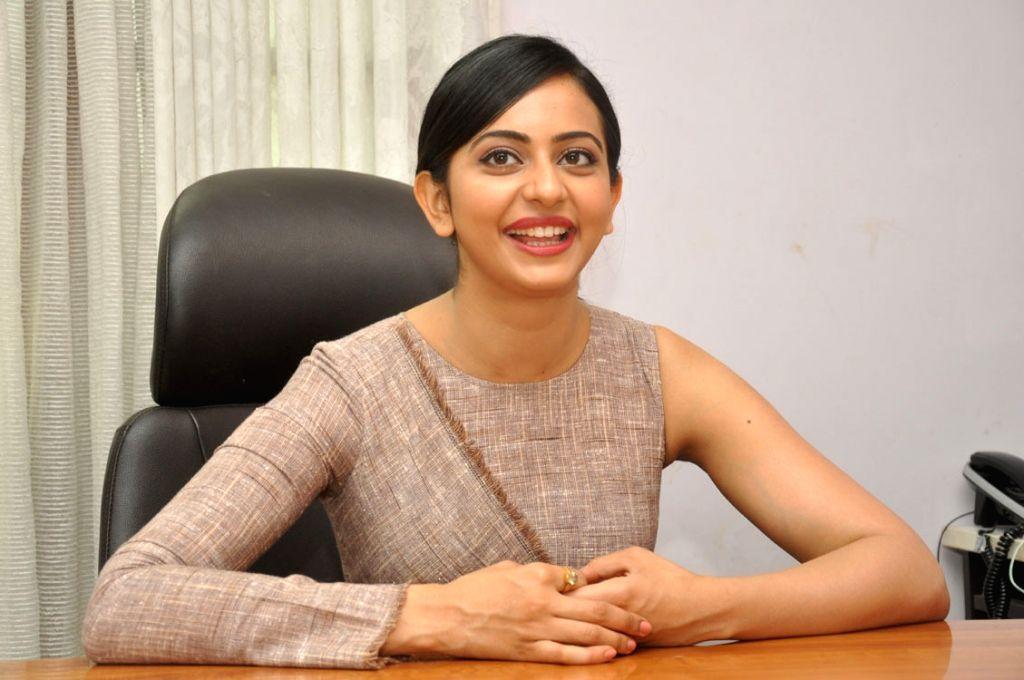 Actress Rakul Preet Singh during the paess meet.