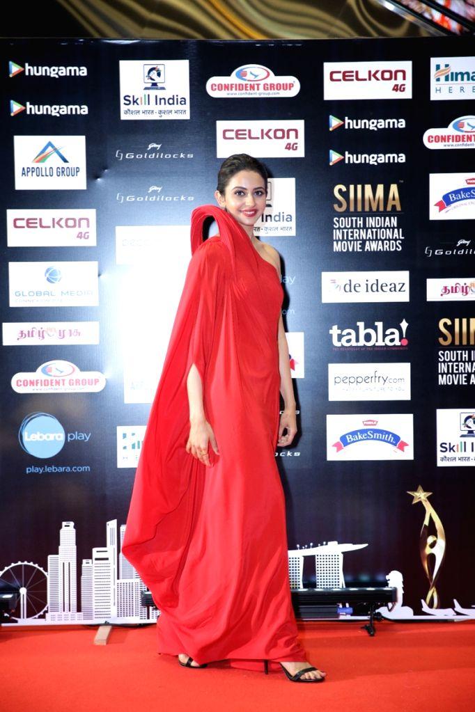 Actress Rakul Preet Singh on the second day of SIIMA Awards 2016. - Rakul Preet Singh