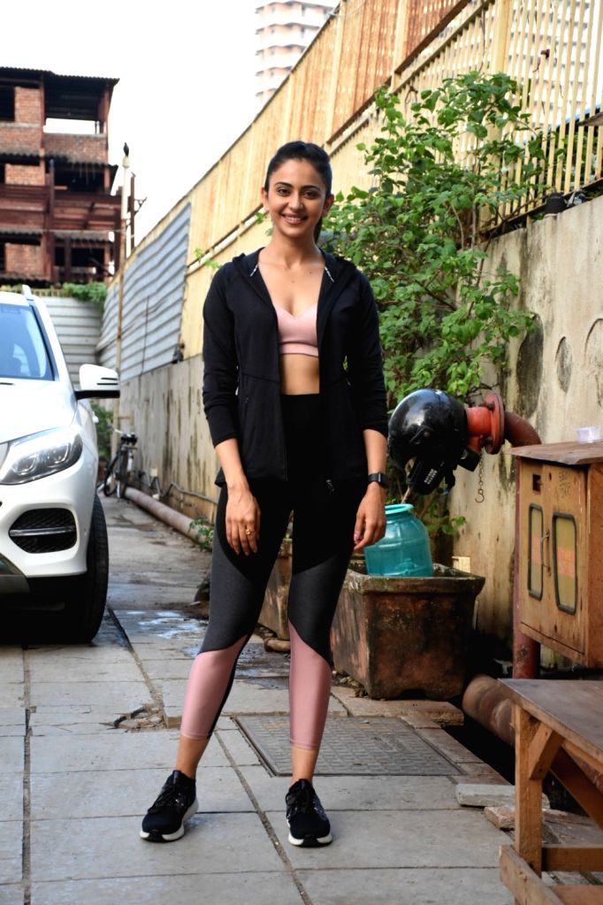 Actress Rakul Preet Singh seen at a gym in Bandra, Mumbai on Oct 31, 2019. - Rakul Preet Singh