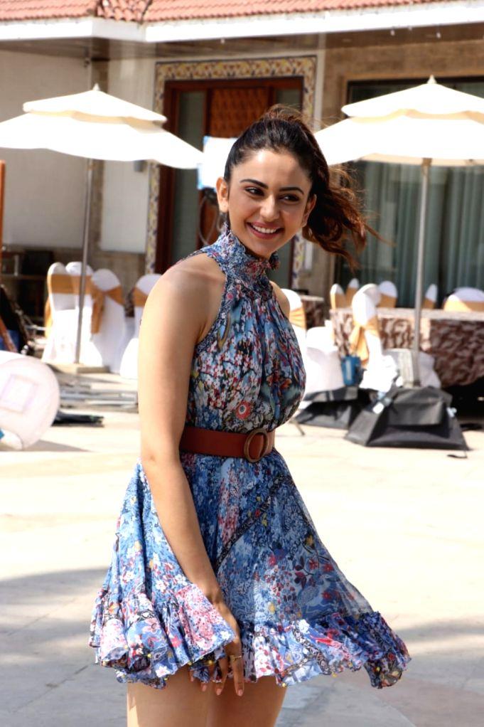 Actress Rakul Preet Singh seen at a hotel in Mumbai's Bandra on May 11, 2019. - Rakul Preet Singh
