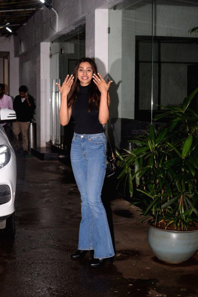 Actress Rakul Preet Singh seen at a recording studio at Juhu in Mumbai on Aug 3, 2019. - Rakul Preet Singh