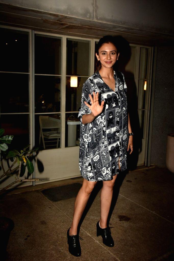 Actress Rakul Preet Singh seen at Bandra in Mumbai on Dec 4, 2019. - Rakul Preet Singh
