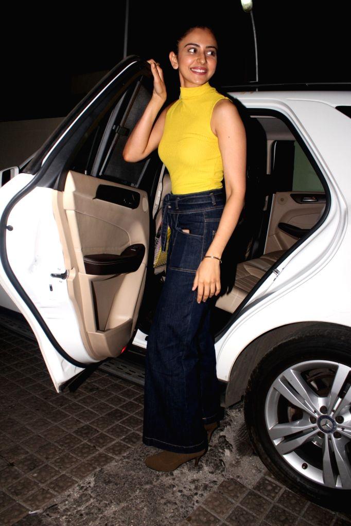 Actress Rakul Preet Singh seen at Juhu, in Mumbai on Jan 11, 2020. - Rakul Preet Singh