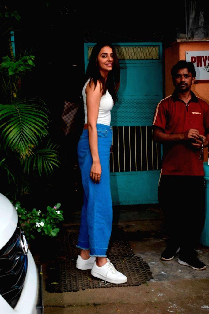 Actress Rakul Preet Singh seen at Mumbai's Versova on Aug 7, 2018. - Rakul Preet Singh