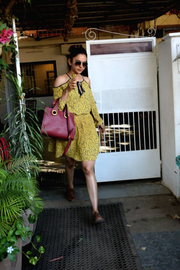 Actress Rakul Preet Singh seen at Mumbai's Versova on May 10, 2019. - Rakul Preet Singh
