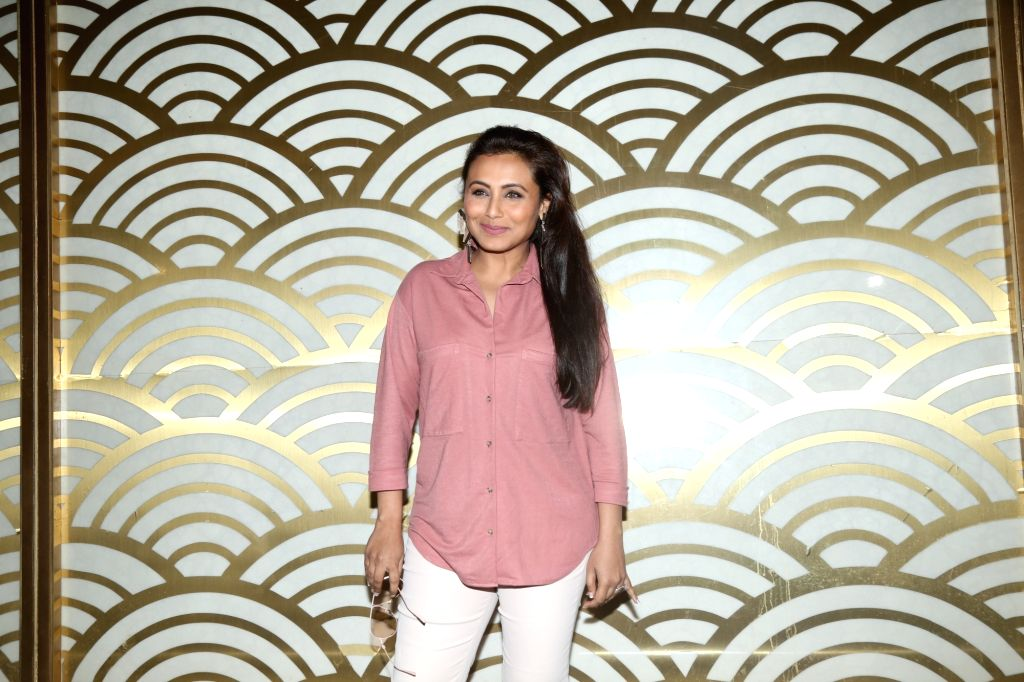 "Actress Rani Mukerjee at the special screening of her upcoming film ""Mardaani 2"" organised for women police personnel, in Mumbai on Dec 11, 2019. - Rani Mukerjee"