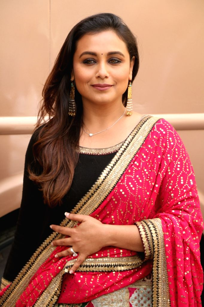 Actress Rani Mukerji arrives to attend Dance India Dance show in Mumbai on Feb 6, 2018. - Rani Mukerji