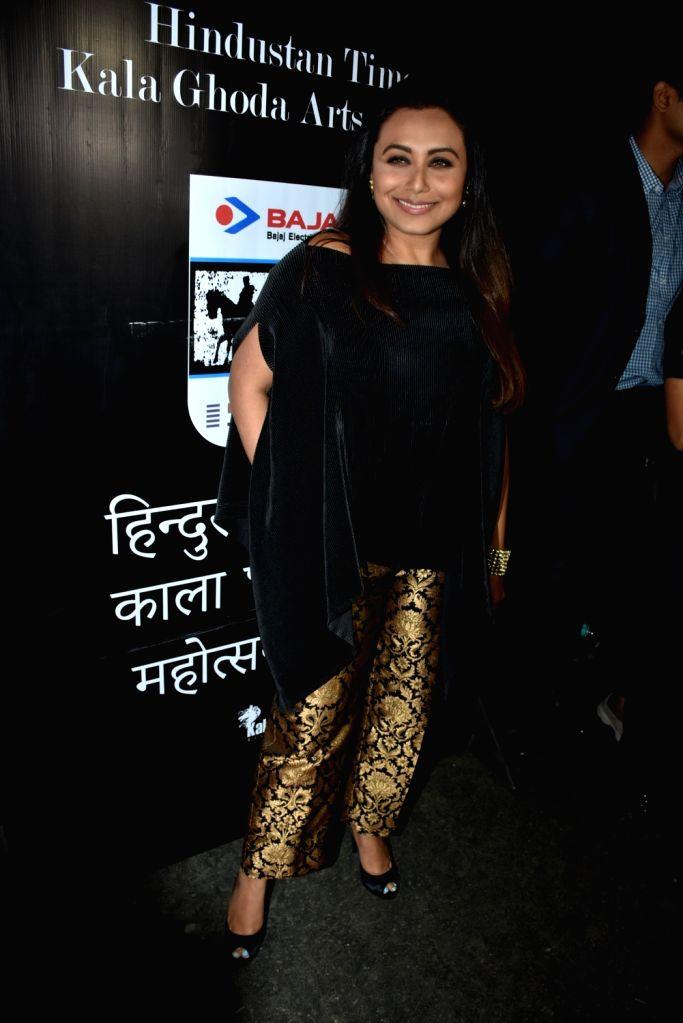 Actress Rani Mukerji at the Kala Ghoda Art Festival 2018 in Mumbai on Feb 11, 2018. - Rani Mukerji