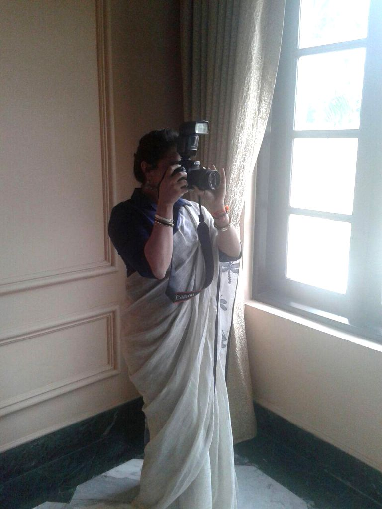 Actress Rani Mukerji celebrates World Photographers` Day.