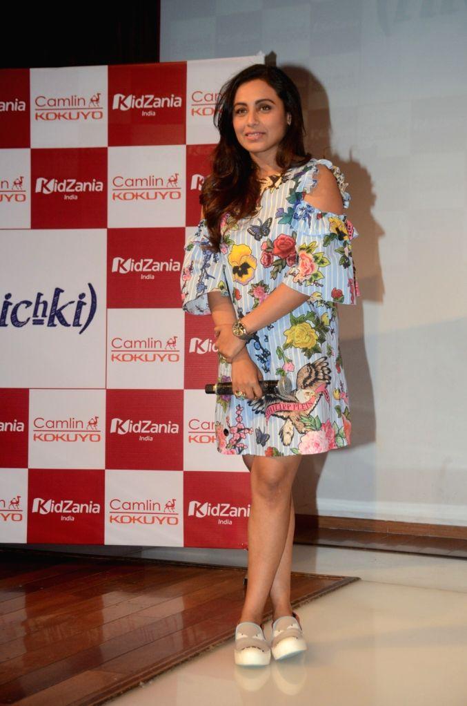 """Actress Rani Mukerji during a programme organised to promote her film """"Hichki"""" in Mumbai on April 4, 2018. - Rani Mukerji"""