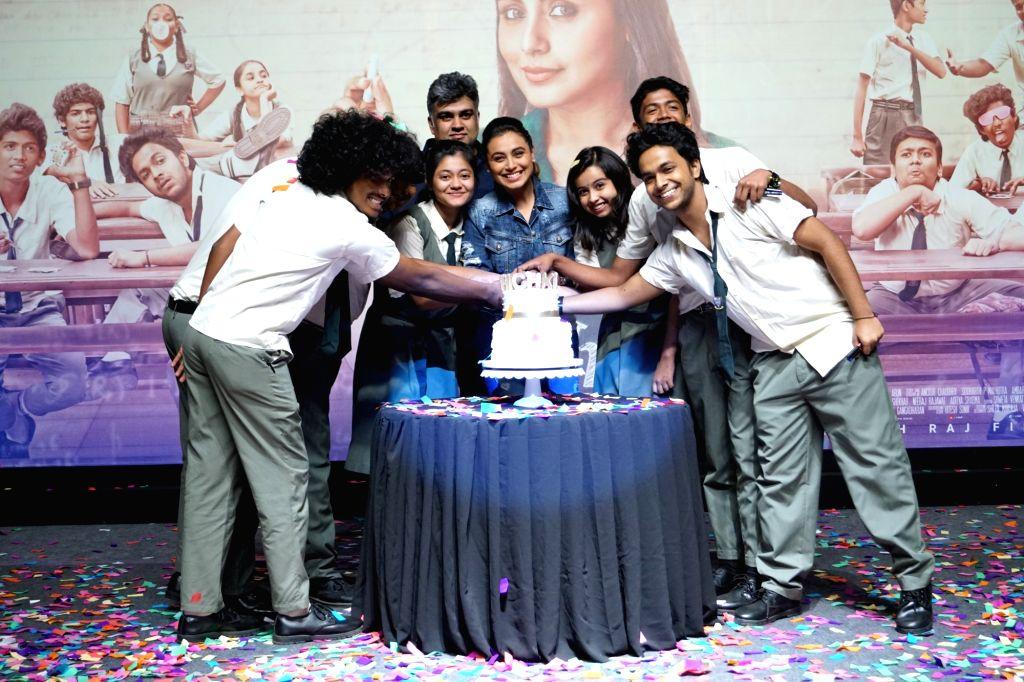 """Actress Rani Mukerji during success party of film """"Hichki"""" in Mumbai, on March 28, 2018. - Rani Mukerji"""
