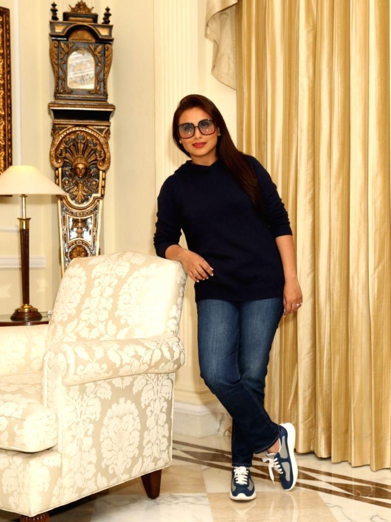 """Actress Rani Mukerji during the promotion of her upcoming film """"Mardaani 2"""" in New Delhi on Dec 5, 2019. - Rani Mukerji"""