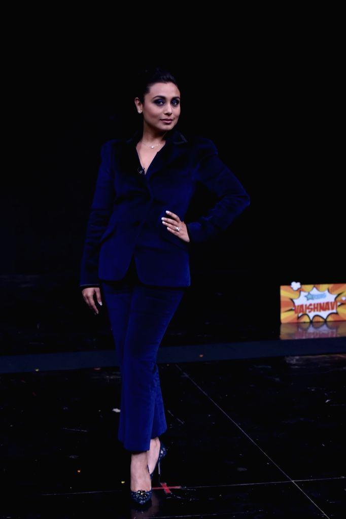 "Actress Rani Mukerji on sets of dance reality show ""Super Dancer Chapter 2"" in Mumbai on Feb 26, 2018. - Rani Mukerji"