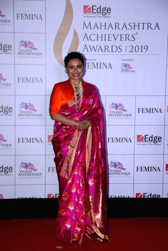 Actress Rani Mukherji at Maharashtra Achievers' Awards 2019 in Mumbai, on March 14, 2019. - Rani Mukherji
