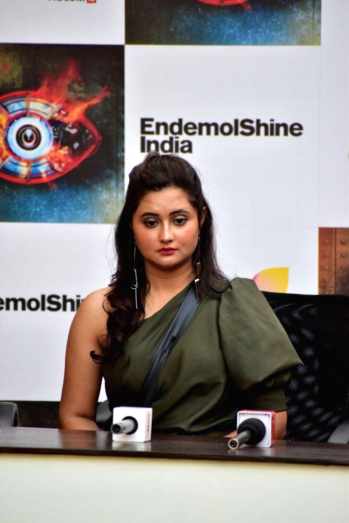 Actress Rashami Desai at Bigg Boss 13 press conference, in Mumbai on Feb 5, 2020. - Rashami Desai