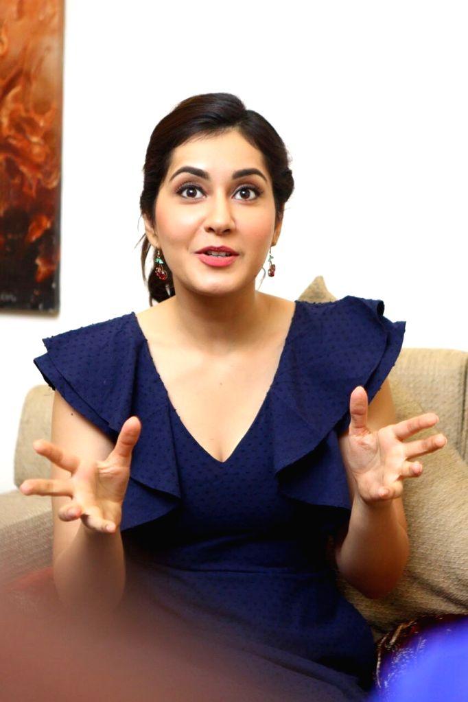 Actress Rashi Khanna in Hyderabad. - Rashi Khanna