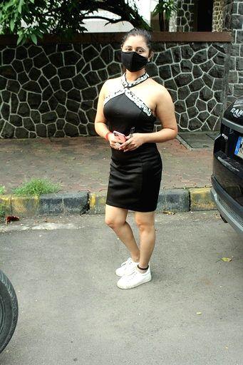 Actress Rashmi Desai seen at Andheri in Mumbai on Sep 11, 2020. - Rashmi Desai
