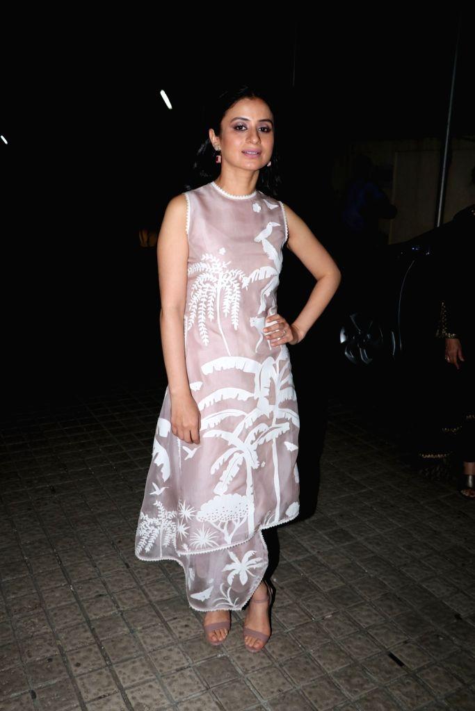"Actress Rasika Dugal at the screening of upcoming film ""Manto"" in Mumbai on Sept 17, 2018. - Rasika Dugal"