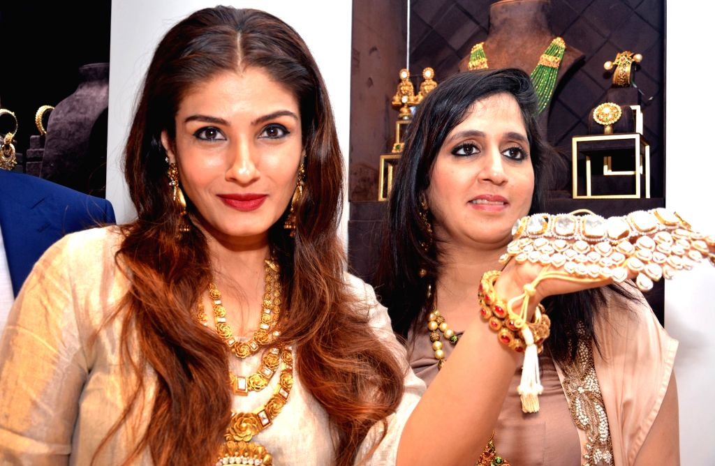 Actress Raveena Tandon at the launch of a jewellery store in Kolkata, on Oct 12, 2017. - Raveena Tandon