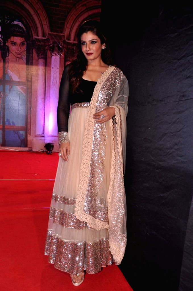Actress Raveena Tandon at the red carpet of Stardust Awards at Jan 26 in Mumbai. - Raveena Tandon