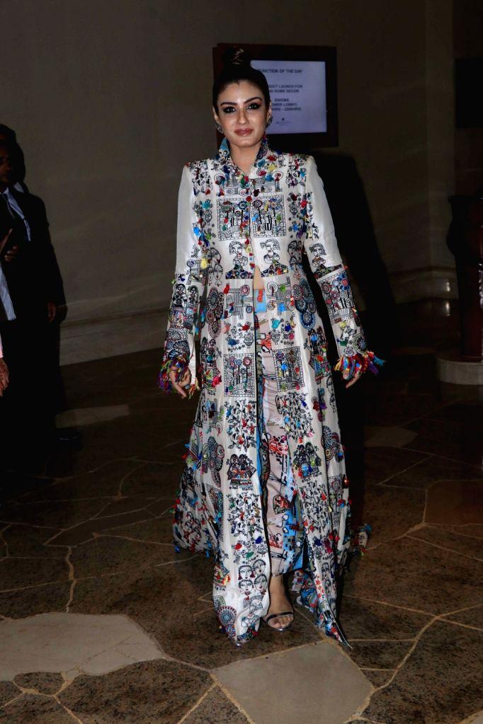Actress Raveena Tandon during a home decor store launch in Mumbai on Oct 30, 2018. - Raveena Tandon