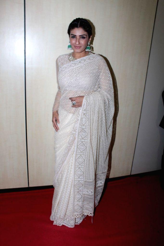 Actress Raveena Tandon during the Dada Saheb Phalke Academy Awards 2017 in Mumbai on June 1, 2017. - Raveena Tandon