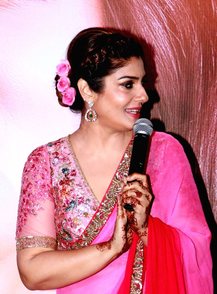"Actress Raveena Tandon during the music launch of film ""Bhay"" in Mumbai on Oct 25, 2016. - Raveena Tandon"