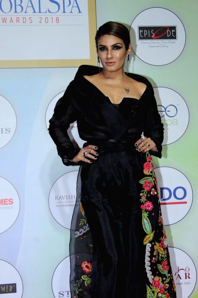 Actress Raveena Tandon on the red carpet of the GeoSpa Awards 2019, in Mumbai, on April 24, 2019. - Raveena Tandon
