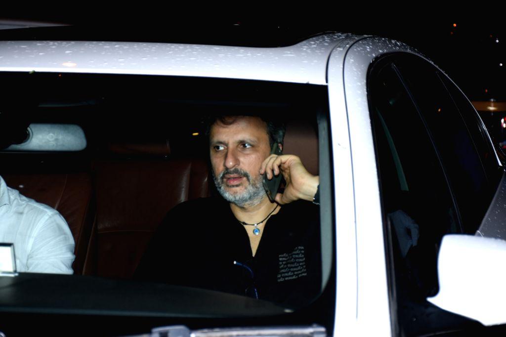 Actress Raveena Tandon's husband Anil Thadani arrives at filmmaker Karan Johar's house party in Mumbai, on July 26, 2019. - Raveena Tando