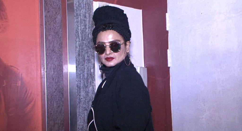 "Actress Rehka during the screening of film ""Kaabil"" in Mumbai, on Jan 23, 2017. - Rehka"