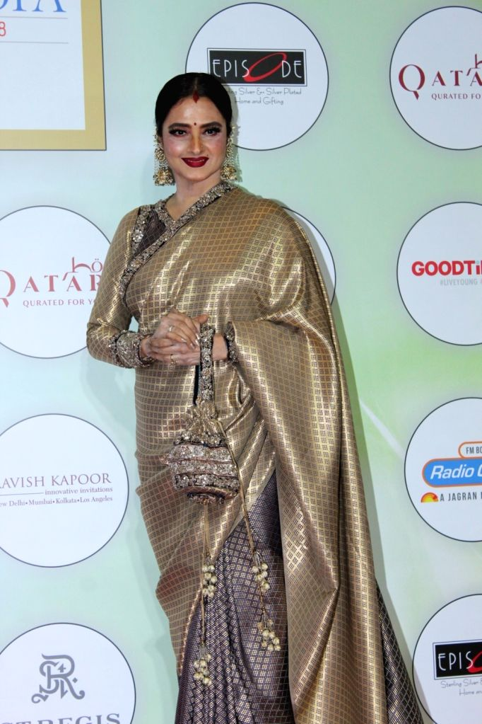"Actress Rekha at ""Global Spa Awards"" in Mumbai, on April 24, 2019. - Rekha"