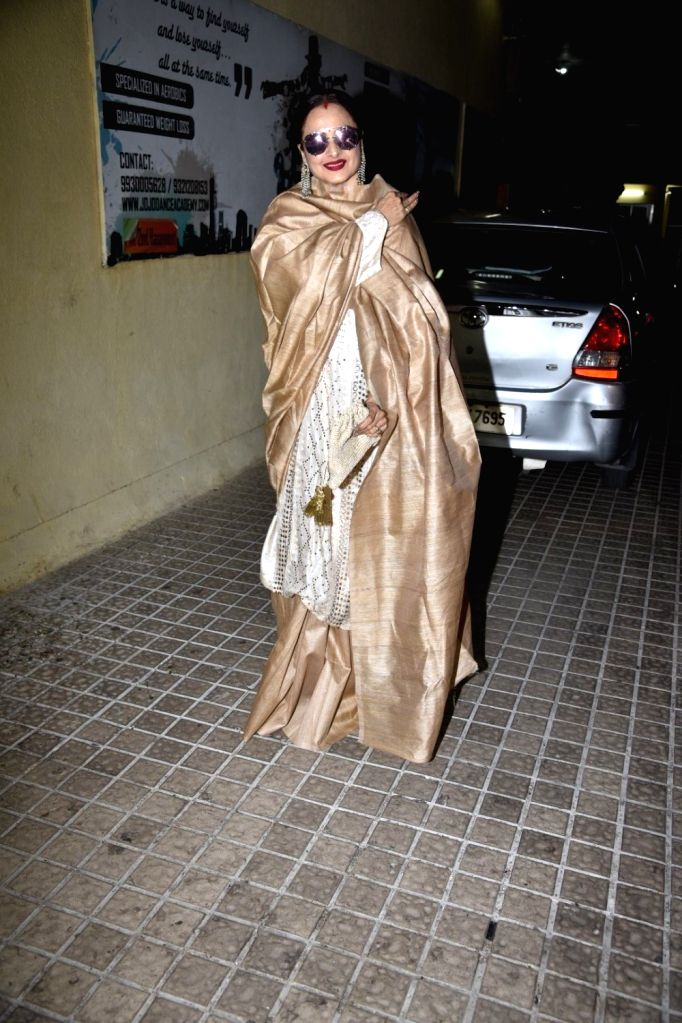 """Actress Rekha during the Screening of film """"photograph"""" in Mumbai, on March 13, 2019. - Rekha"""