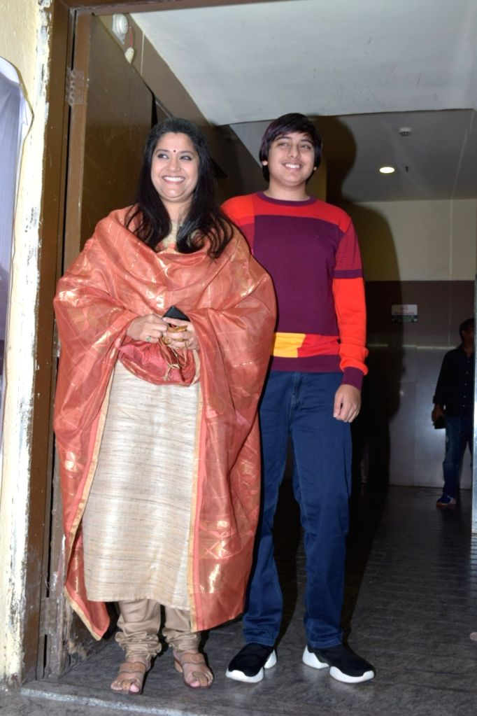 "Actress Renuka Sahane during the screening of the film ""Tanhaji: The Unsung Warrior"" in Mumbai on Jan 9, 2020. - Renuka Sahane"