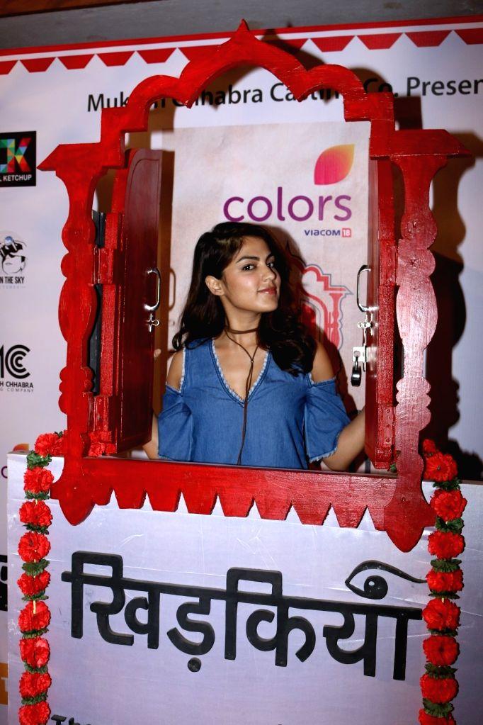 Actress Rhea Chakraborty during the Colours Khidkiyaan Theater Festival-Day 5 in Mumbai on March 5, 2017. - Rhea Chakraborty