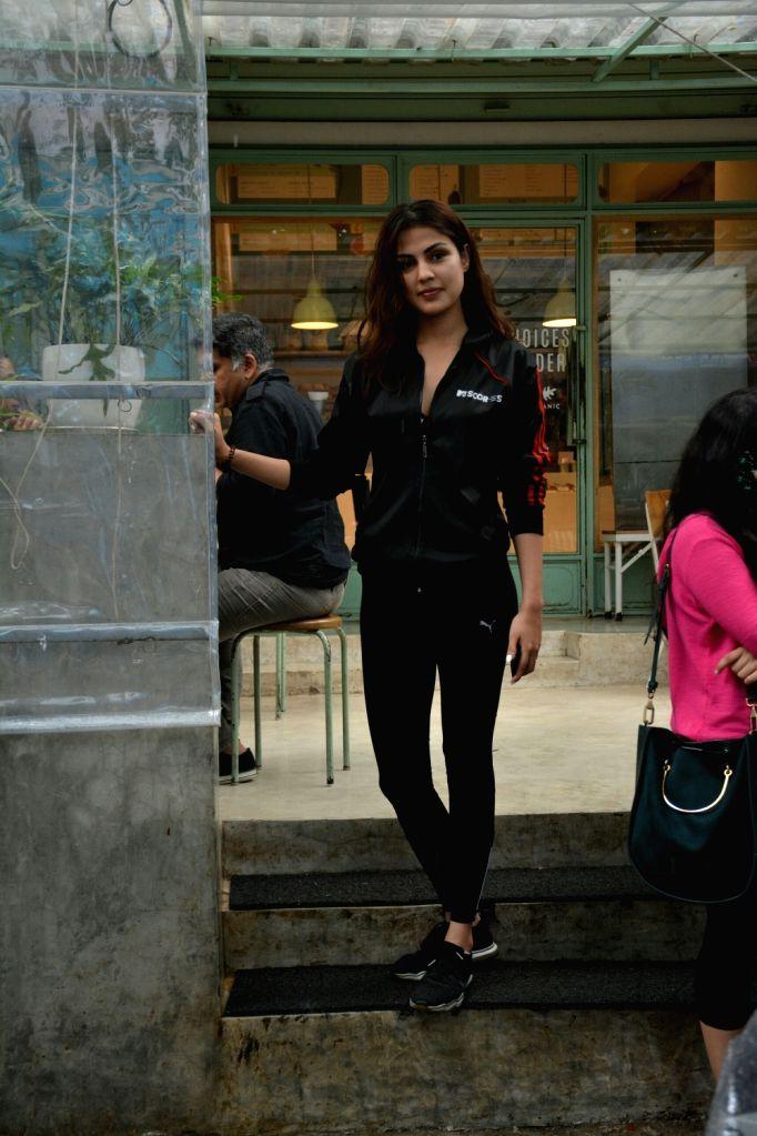 Actress Rhea Chakraborty seen at a Mumbai restaurant on July 10, 2018. - Rhea Chakraborty