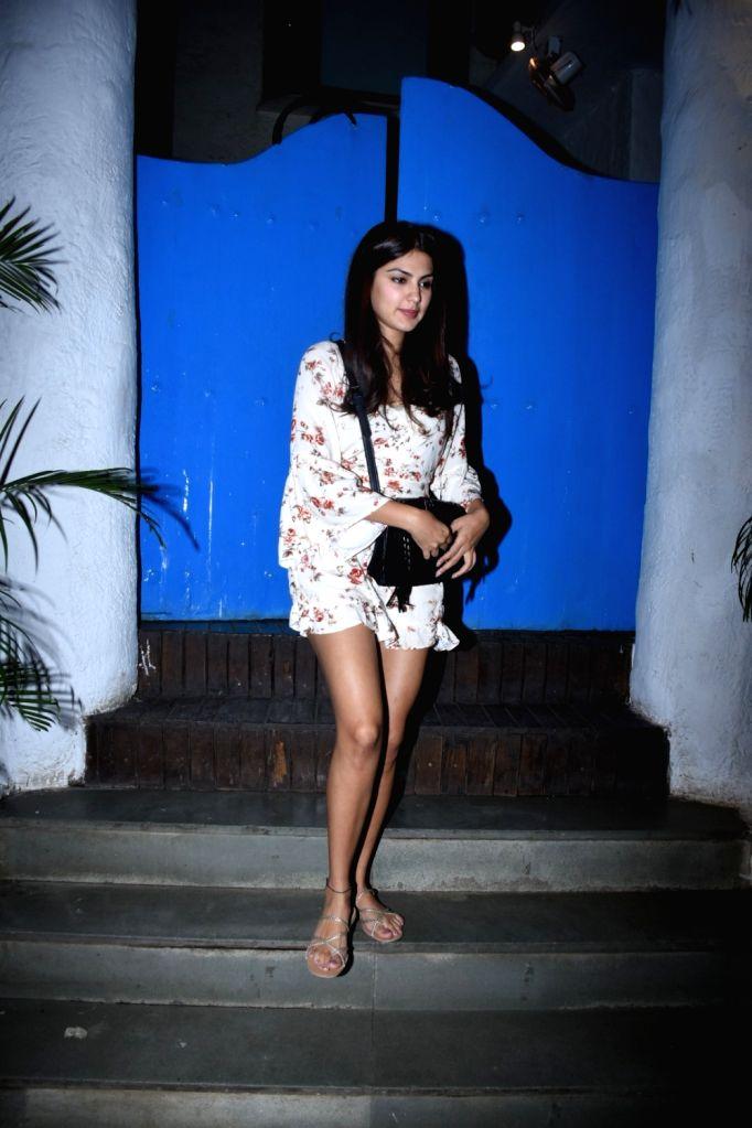 Actress Rhea Chakraborty seen at Bandra, in Mumbai on Feb 8, 2020. - Rhea Chakraborty