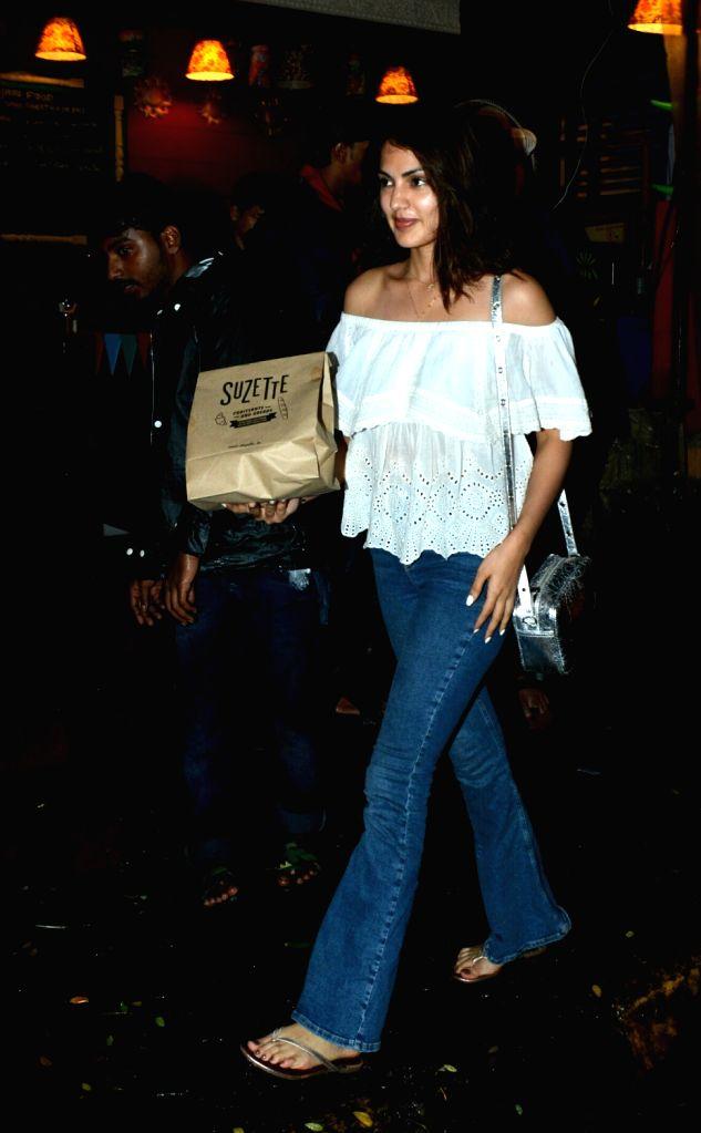 Actress Rhea Chakraborty seen in Mumbai's Bandra on July 16, 2018. - Rhea Chakraborty