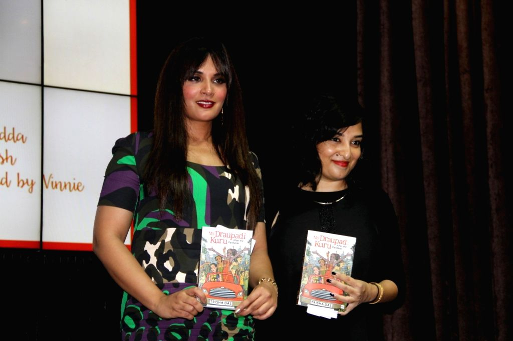 Actress Richa Chadda and author Trisha Das during the book launch of Trisha Das book Ms Draupadi Kuru: After the Pandavas in Mumbai on Sept. 24, 2016. - Richa Chadda